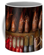 Shoemaker - Shoes Worn In Life Coffee Mug by Mike Savad