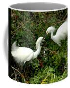 Showy Snowy Egrets Coffee Mug