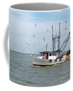 Shrimp Boat And Gulls Coffee Mug