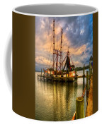 Shrimp Boat At Sunset Coffee Mug