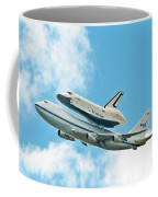 Shuttle Enterprise Comes To Ny Coffee Mug by Regina Geoghan