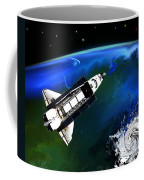 Shuttle On Orbit Coffee Mug
