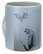 Siamese Cat Study Coffee Mug