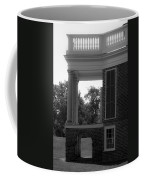 Side View South Portico Bw Coffee Mug