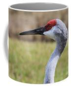 Sideways Sandhill Crane Coffee Mug