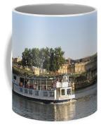 Sightseeing Boat On River Seine. Paris Coffee Mug
