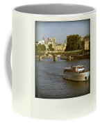 Sightseeings On The River Seine In Paris Coffee Mug