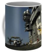 Signalman Directs The Movement Of An Coffee Mug