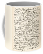 Signatures Attached To The American Declaration Of Independence Of 1776 Coffee Mug