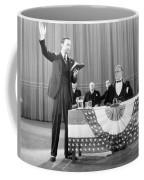 Silent Film Still: Reading Coffee Mug