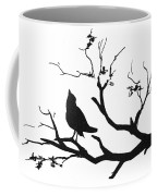 Silhouette Bird On Branch - To License For Professional Use Visit Granger.com Coffee Mug