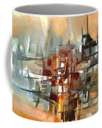 Silhouette Of A City Is Reflected In The Lake Coffee Mug
