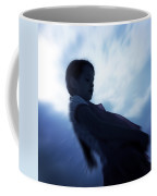 Silhouette Of A Girl Against The Sky Coffee Mug by Joana Kruse