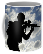 Silhouette Of A Soldier Coffee Mug