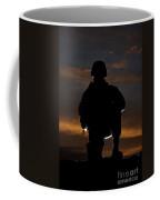 Silhouette Of A U.s. Marine In Uniform Coffee Mug