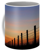 Silhouette Of Barbed Wire Fence Coffee Mug