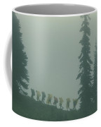 Silhouette Of Girl Scouts Coffee Mug