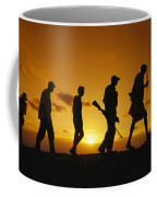 Silhouette Of Laikipia Masai Guides Coffee Mug by Richard Nowitz