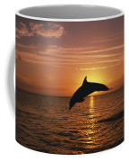 Silhouette Of Leaping Bottlenose Coffee Mug