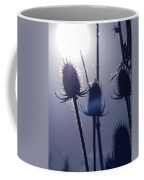 Silhouette Of Weeds Coffee Mug