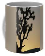Silhouetted Joshua Tree In Antelope Coffee Mug