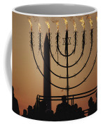 Silhouetted Worshippers Stand Coffee Mug