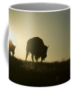 Silhouettes Of Roaming Bison Coffee Mug by Pete Ryan