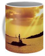 Silhouettes On The Beach Coffee Mug by Carlos Caetano