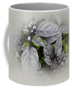 Silver Leaves And Berries Coffee Mug