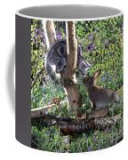 Silver Tabby And Wild Rabbit Coffee Mug