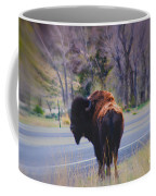 Single Buffalo In Yellowstone Np Coffee Mug