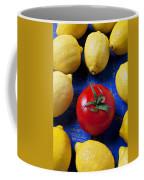 Single Tomato With Lemons Coffee Mug