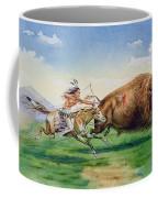 Sioux Hunting Buffalo On Decorated Pony Coffee Mug
