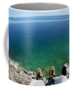 Sitting On A Cliff Coffee Mug