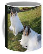Sitting Pretty Collie Dogs Coffee Mug