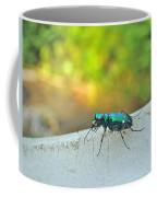 Six-spotted Tiger Beetle - Cicindela Sexguttata Coffee Mug