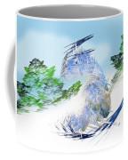 Ski Sledding Blue Polar Bear Coffee Mug