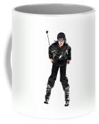 Skier Flying Coffee Mug