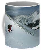 Skier Phil Atkinson Begins His Descent Coffee Mug