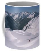 Skier Phil Atkinson Heads Down Mount Coffee Mug