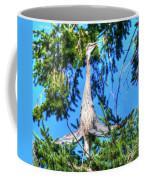 Puget Sound Great Blue Heron Skirt Wings Coffee Mug