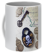 Skull And Cross Bones Lock Coffee Mug