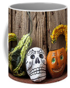 Skull And Jack-o-lantern Coffee Mug