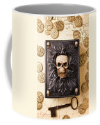 Skull Box With Skeleton Key Coffee Mug