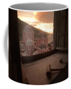 Sky And Sea Are An Inspiring Backdrop Coffee Mug by Travis Dove