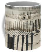 Slats Of Wooden Fence Throwing Shadows Coffee Mug