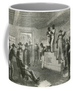 Slave Auction, 1861 Coffee Mug by Photo Researchers