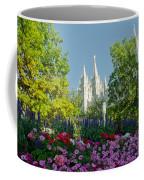 Slc Temple Flowers Coffee Mug