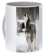 Sled Dog Howling Coffee Mug by Pete Ryan