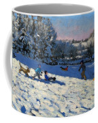 Sledging Near Youlgreave Coffee Mug by Andrew Macara